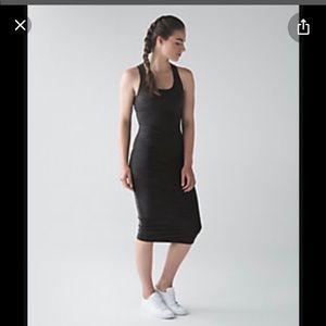 lululemon black tank tight dress